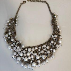 Eve Bib gold/pearl Stella & Dot Necklace